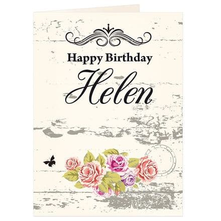 Personalised Shabby Chic Card