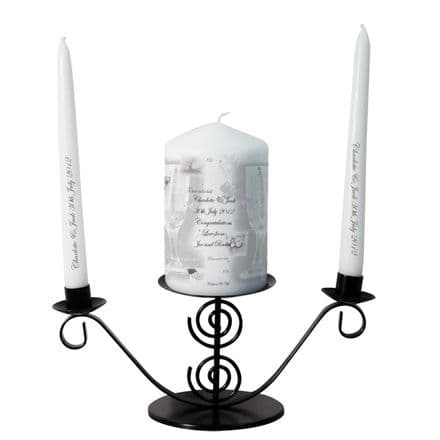 Personalised Silver Candle Gift Set