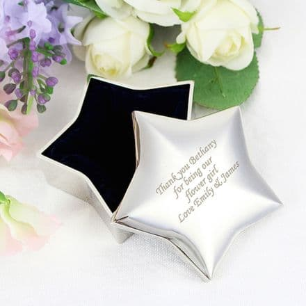 Personalised Star Trinket Box