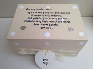PERSONALISED Box Best Special Niece gift Trinket Jewellery any name - 253376481001
