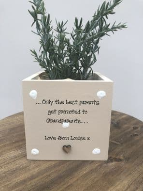 Personalised Flower / Plant Pot Mum & Dad Who Are GRANDPARENTS gift OR ANY NAME