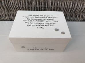 Personalised In Memory Of Box Loved One ~ BROTHER ~ any Name Bereavement Loss - 232741844454
