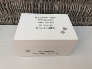Personalised In Memory Of Box Loved One ~ BROTHER ~ any Name Bereavement Loss - 253575325431