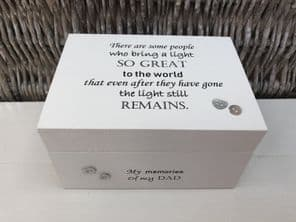 Personalised In Memory Of Box Loved One ~ DAD ~ FATHER any Name Bereavement Loss - 232738836179
