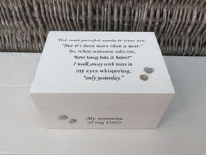 Personalised In Memory Of Box Loved One ~ DAD ~ FATHER any Name Bereavement Loss - 232739883366