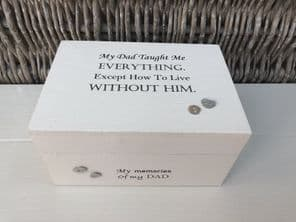Personalised In Memory Of Box Loved One ~ DAD ~ FATHER any Name Bereavement Loss - 232739891090