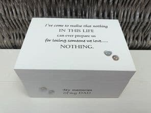 Personalised In Memory Of Box Loved One ~ DAD ~ FATHER any Name Bereavement Loss - 253570244344
