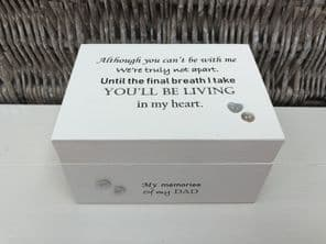 Personalised In Memory Of Box Loved One ~ DAD ~ FATHER any Name Bereavement Loss - 332626185783