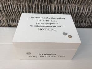 Personalised In Memory Of Box Loved One ~ DAUGHTER ~ any Name Bereavement Loss - 232738822187