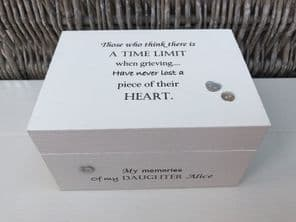 Personalised In Memory Of Box Loved One ~ DAUGHTER ~ any Name Bereavement Loss - 232738828124