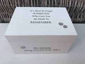 Personalised In Memory Of Box Loved One ~ DAUGHTER ~ any Name Bereavement Loss - 253570215949
