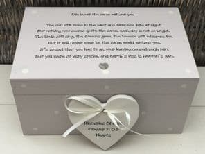 Personalised LARGE Box In Memory Of A Loved One ~ Loss Of Daughter Son Any Name - 253464771935