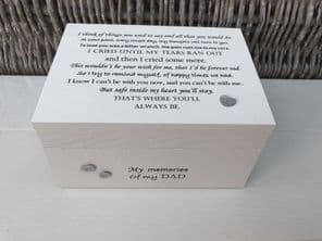 Personalised LARGE In Memory Of Box Loved One ~ DAD ~ any Name Bereavement Loss