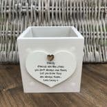Shabby Chic Personalised Plant Pot Special Or Best Friend Gift ANY NAME Present - 333400849634