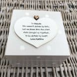 Shabby Chic Personalised Special Best Friend Any Name Trinket Box Gift Present