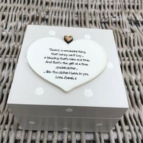 Shabby Chic Personalised Special Sister Any Name Trinket Box Gift Present - 254423704903