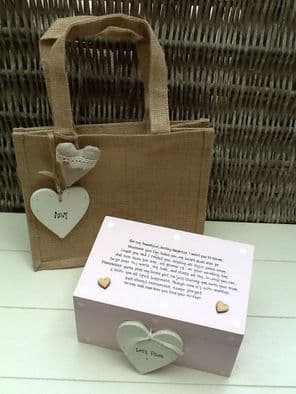 Shabby Personalised Chic Daughter On Her Wedding Day From Mother Of Bride Gift