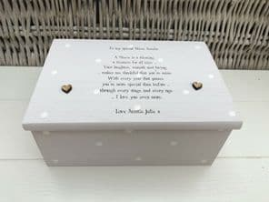 Shabby Personalised Chic Jewellery Box SPECIAL NIECE Gift Birthday Christmas