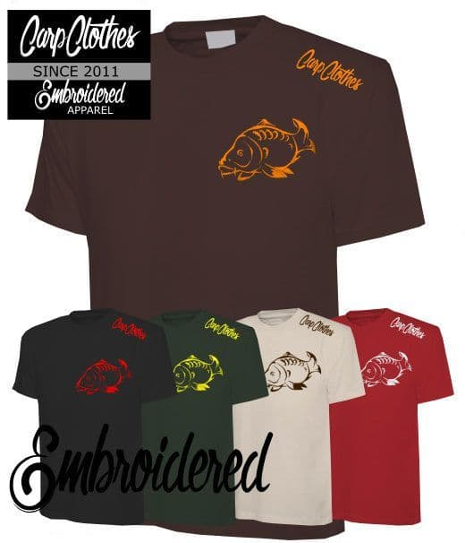 001 CARP CLOTHES EMBROIDERED T-SHIRT 5 PACK **HALF PRICE**