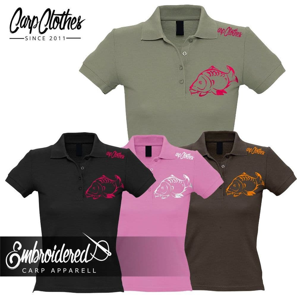 001 LADIES EMBROIDERED POLO