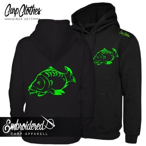 001 NEON EMBROIDERED CARP  HOODIE