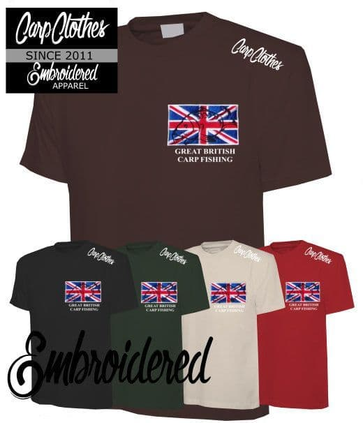 002 CARP CLOTHES EMBROIDERED T-SHIRT 5 PACK **HALF PRICE**