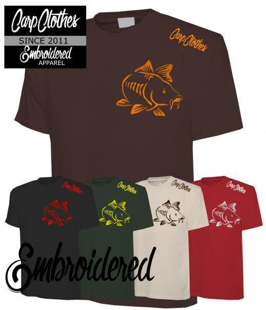 003 CARP CLOTHES EMBROIDERED T-SHIRT 5 PACK **HALF PRICE**