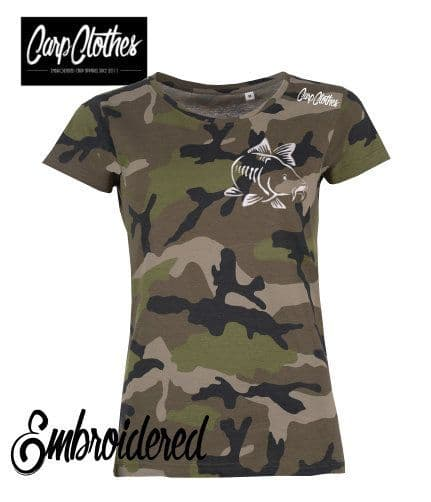 003 LADIES EMBROIDERED CAMO T-SHIRT