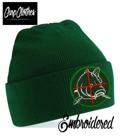 006 EMBROIDERED CARP CLOTHES BEANIE - BOTTLE