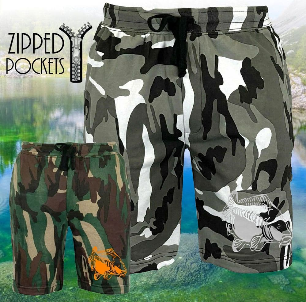 009 EMBROIDERED CAMO SHORTS