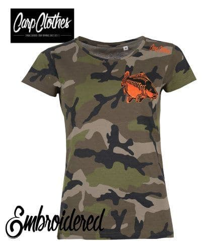 009 LADIES EMBROIDERED CAMO T-SHIRT