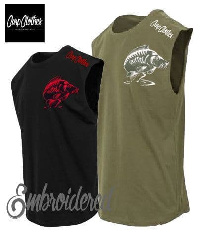 014 EMBROIDERED SLEEVELESS T-SHIRT