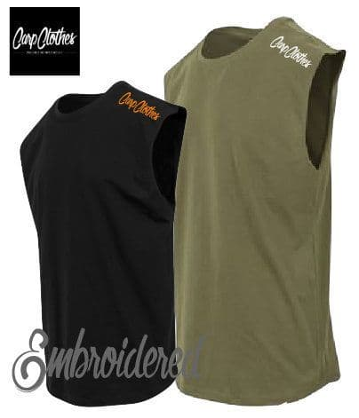 020 EMBROIDERED SLEEVELESS T-SHIRT