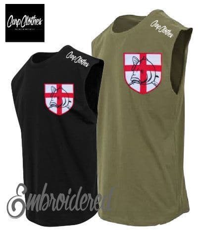 021 EMBROIDERED SLEEVELESS T-SHIRT