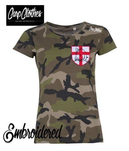 021 LADIES EMBROIDERED CAMO T-SHIRT