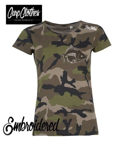 026 LADIES EMBROIDERED CAMO T-SHIRT