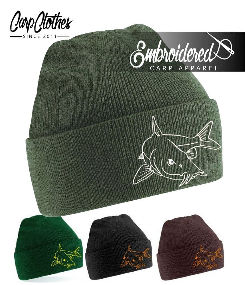 027 EMBROIDERED BARBEL BEANIE