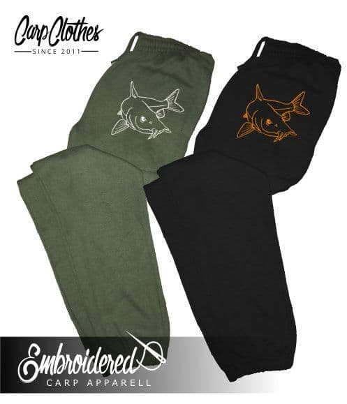 027 EMBROIDERED BARBEL JOGGERS