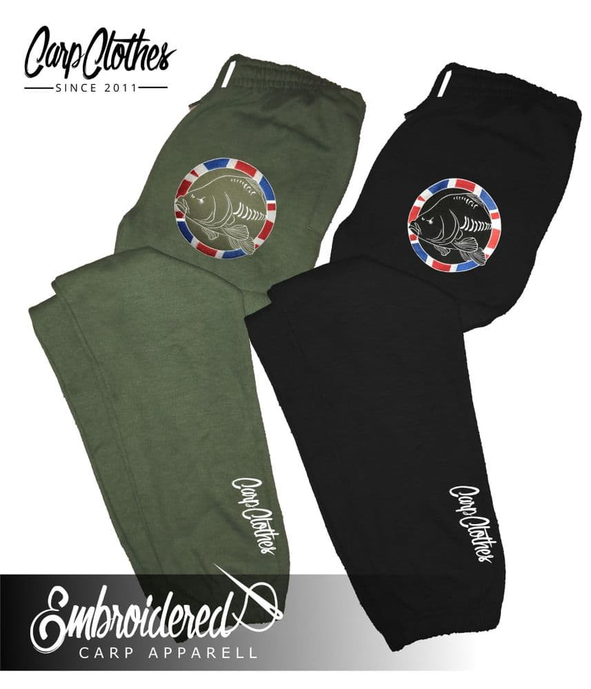 030 EMBROIDERED CARP  JOGGERS