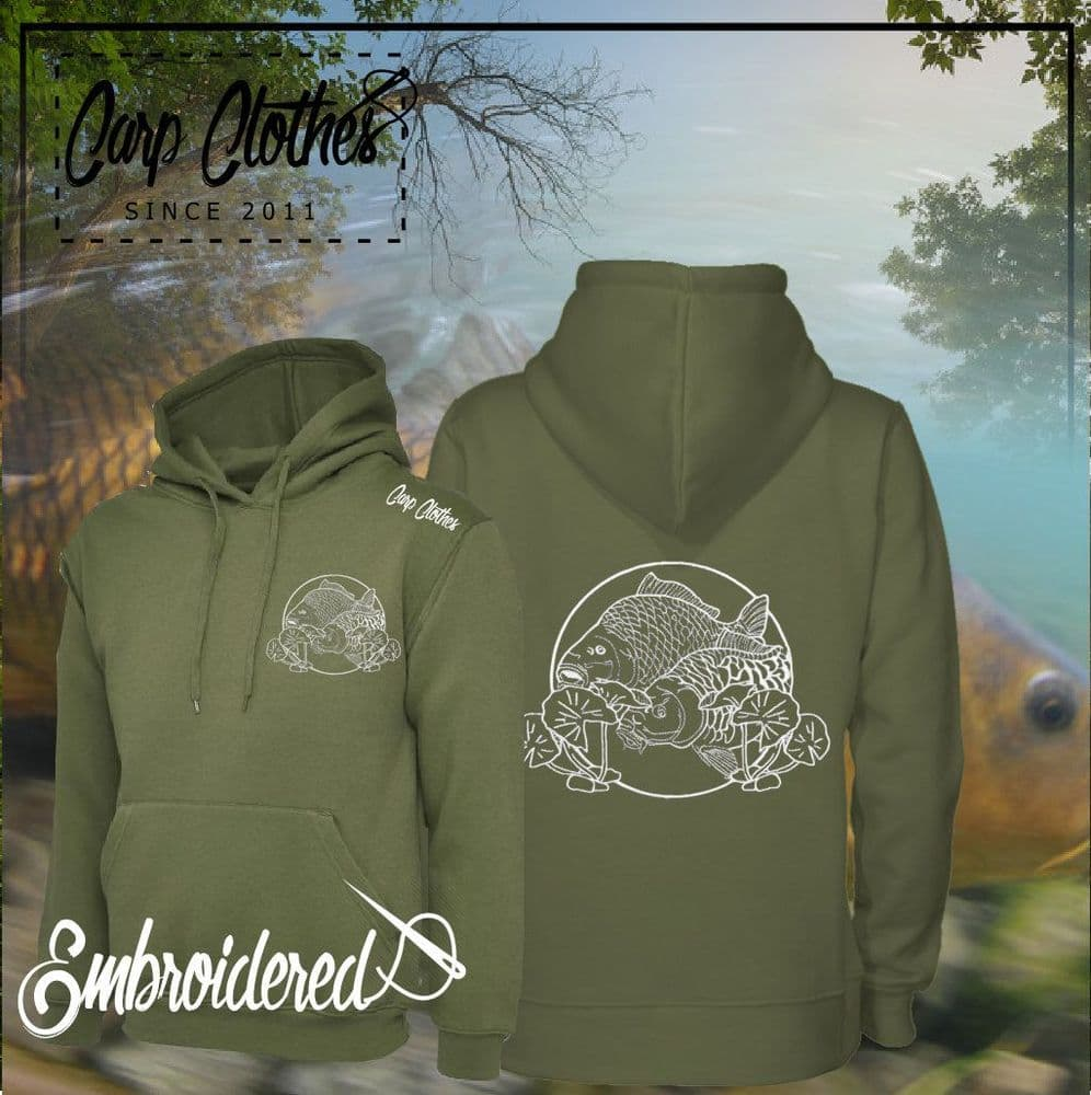 035 EMBROIDERED CARP HOODIE