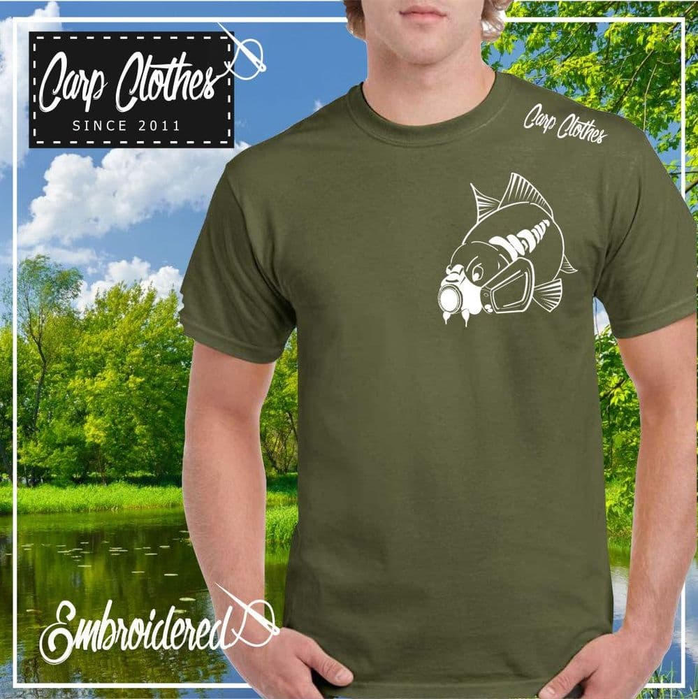 037 EMBROIDERED CARP  T-SHIRT