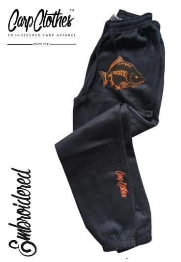 CHILD EMBROIDERED JOGGERS - BLACK 026