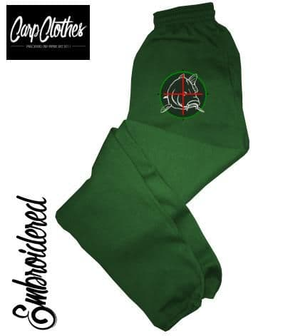CHILD EMBROIDERED JOGGERS - BOTTLE GREEN 006