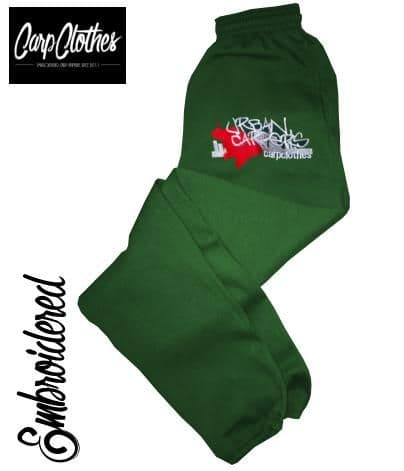 CHILD EMBROIDERED JOGGERS - BOTTLE GREEN 007