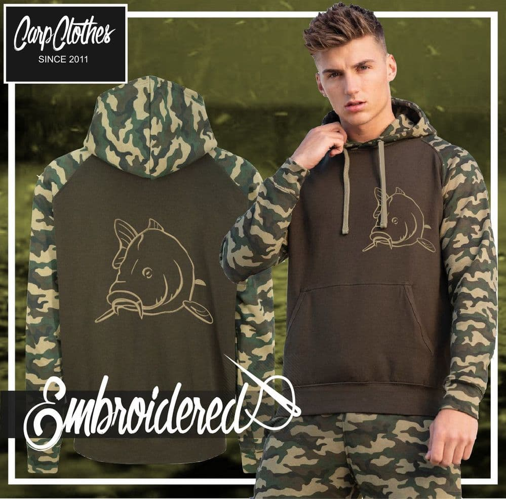 CLR004 EMBROIDERED CONTRAST CAMO HOOD