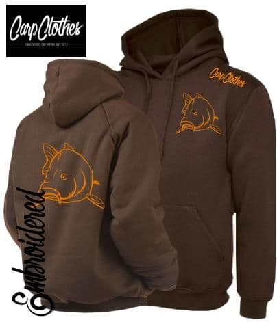 CLR004 EMBROIDERED HOODIE BROWN