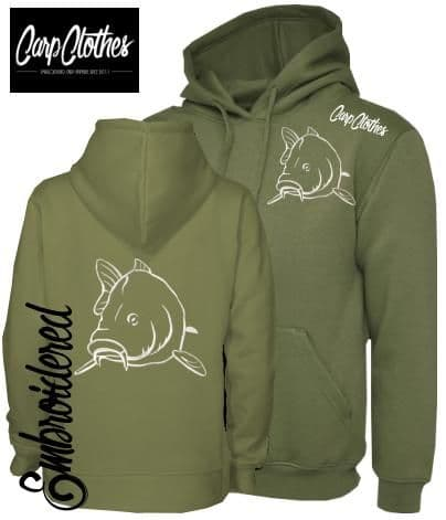 CLR004 EMBROIDERED HOODIE OLIVE