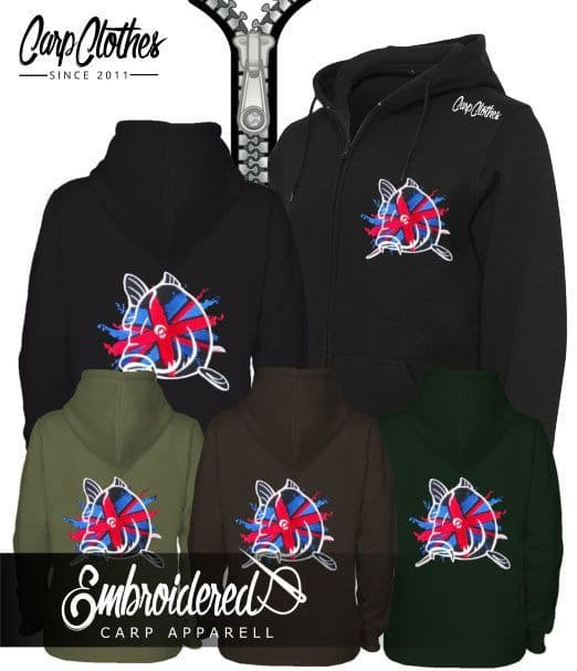 CLR011 EMBROIDERED ZIPPED HOODIE OLIVE