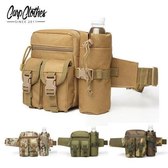 Tactical Waist Bag With Bottle Attachment