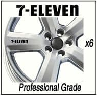 7 ELEVEN CAR WHEEL DECALS
